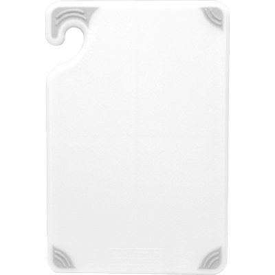 "San Jamar CBG6938WH Saf-T-Grip® Bar Cutting Board, 6"" x 9"" x 3/8"", white, NSF"