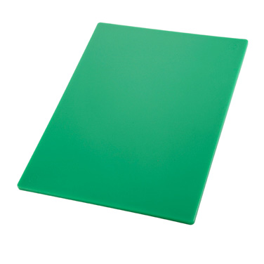 "Winco CBGR-1218 Cutting Board, 12"" x 18"" x 1/2"" thick, BPA free, polyethylene, green, NSF"