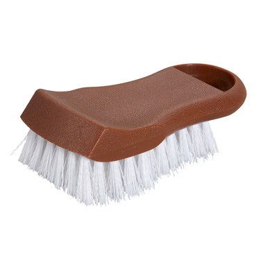 "Winco CBR-BN Cutting Board Brush, 6-1/2"" long, polypropylene, brown"