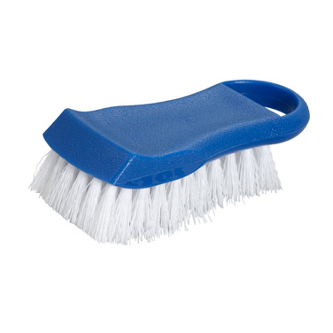 "Winco CBR-BU Cutting Board Brush, 6-1/2"" long, polypropylene, blue"