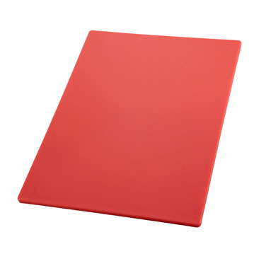 "Winco CBRD-1218 Cutting Board, 12"" x 18"" x 1/2"" thick, BPA free, polypropylene, red, NSF"