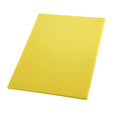 "Winco CBYL-1218 Cutting Board, 12"" x 18"" x 1/2"" thick, BPA free, yellow, NSF"