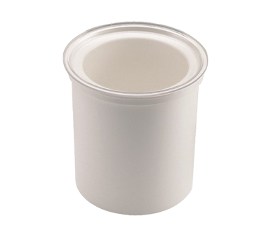 Cambro CFR18148 ColdFest Crock, 1.7 qt., 6-13/16 dia., ABS plastic shell, stackable, white, NSF