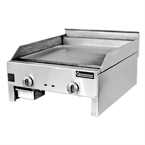 "Connerton CG-18-M-S 1"" Griddle, countertop, gas, 18""W x 22""D x 1"" thick highly polished steel griddle plate, manual controls, 22,000 BTU, NSF, CSA"