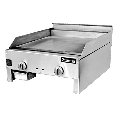 "Connerton CG-24-M-S Griddle  1"", countertop, gas, 24""W x 22""D x 1"" thick highly polished steel griddle plate, manual controls, 44,000 BTU, NSF, CSA"
