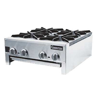"Connerton CHP-424-S Hotplate, countertop, gas, 12""W, painted cast iron grates, 56,000 BTU, NSF, CSA"