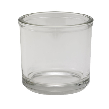 "Winco CJ-7G Condiment Jar, 7 oz., 3"" dia. x 3""H, round, glass, clear"