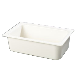 "Carlisle CM110002 Coldmaster Full Size Food Pan - 6""Deep, ABS Plastic, White"