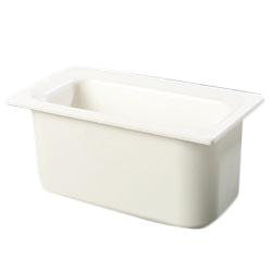 "Carlisle CM110202 Coldmaster 1/3 Size Cold Food Pan - 6"" Deep, ABS Plastic, White"