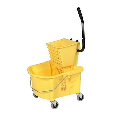 Continental 226-312YW 26 Qt. Splash Guard Side-Press Combo Pack, Yellow