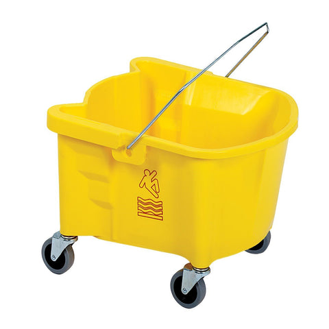 Continental 226-3YW Splash Guard Mop Bucket 26 Qt. Cap. - Yellow