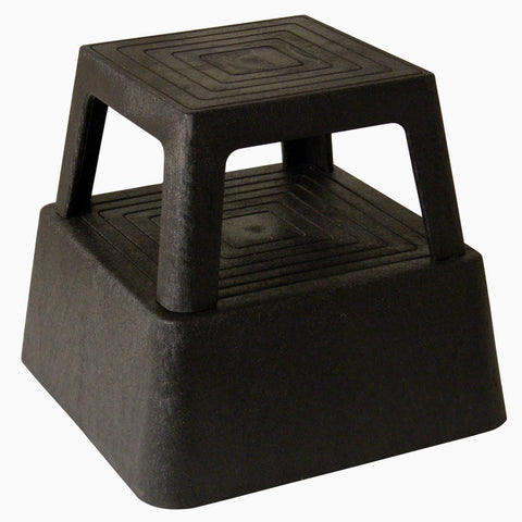 "Continental 523BK Step Stool, 13""H Structural Plastic, Black"