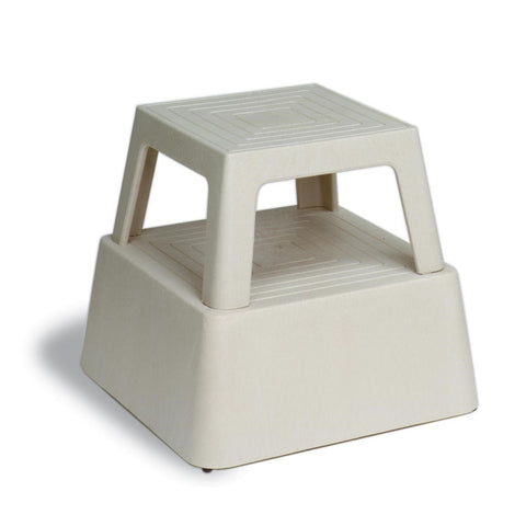 "Continental 523TN Step Stool, 13""H Structural Plastic, Tan"