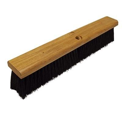 "Continental F007018 Black Polypropylene Floor Sweep 18"" Wood Block"