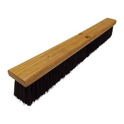 "Continental F007024 Black Polypropylene Floor Sweep 24"" Wood Block"