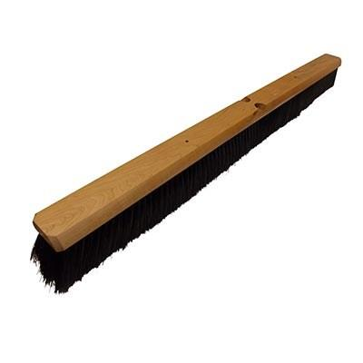 "Continental F007036 Black Polypropylene Floor Sweep 36"" Wood Block"