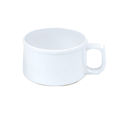 Thunder Group CR9016W 10 oz. White Melamine Soup Mug with Handle