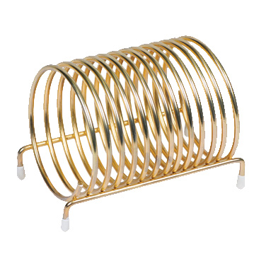 "Winco CS-3 Check Caddy, 3"" dia., round, brass-plated"