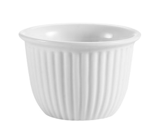 "CAC China CST-8 RKF Custard Cup, 6 oz., 3-1/2"" dia. x 2-3/8""H, round, fluted, 3dz Per Case"