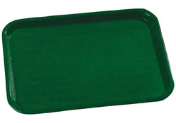 "Carlisle CT101408 Café Tray, 13/7/8""L x 10-3/4""W, rectangular, drying/stacking lugs, skid and scratch resistant, polypropylene, forest green, NSF"
