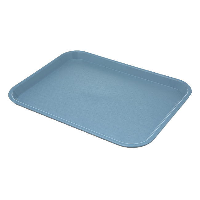 "Carlisle CT101459 Café Tray, 13/7/8""L x 10-3/4""W, rectangular, drying/stacking lugs, skid and scratch resistant, polypropylene, slate blue, NSF"