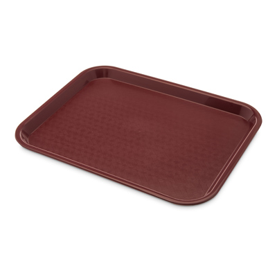 "Carlisle CT101461 Café Tray, 13/7/8""L x 10-3/4""W, rectangular, drying/stacking lugs, skid and scratch resistant, polypropylene, burgandy, NSF"