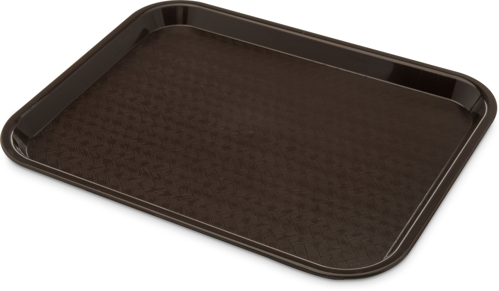 "Carlisle CT101469 Café Tray, 13/7/8""L x 10-3/4""W, rectangular, drying/stacking lugs, skid and scratch resistant, polypropylene, chocolate, NSF"