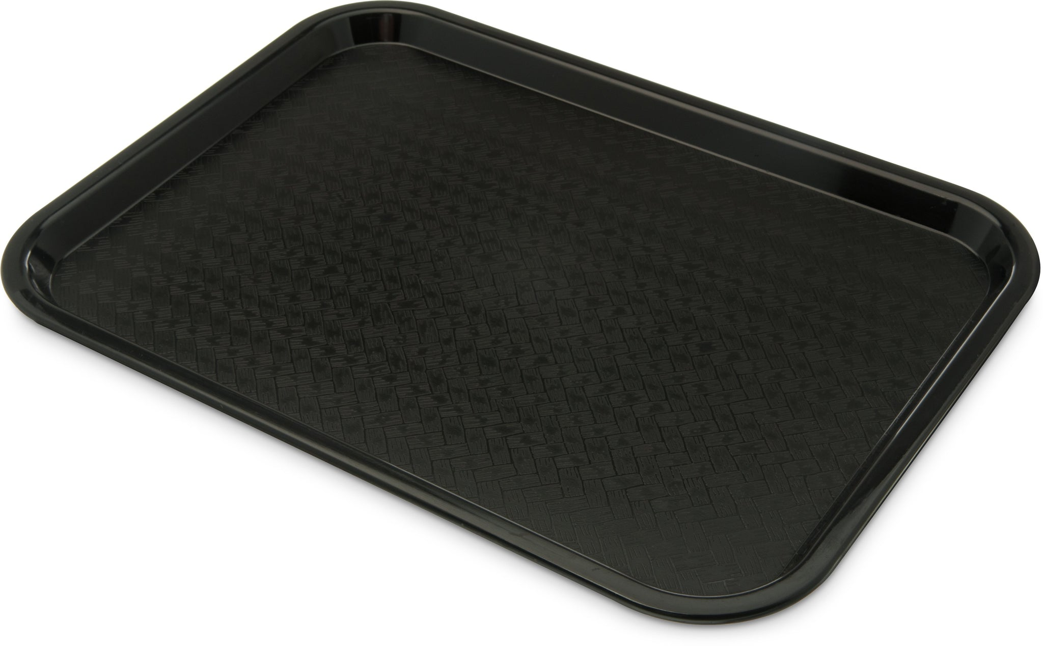 "Carlisle CT121603 Café Tray, 16-5/16""L x 12""W, rectangular, drying/stacking lugs, skid and scratch resistant, polypropylene, black, NSF"