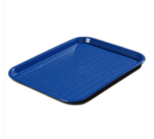 "Carlisle CT121614 Café Tray, 16-5/16""L x 12""W, rectangular, drying/stacking lugs, skid and scratch resistant, polypropylene, blue, NSF"