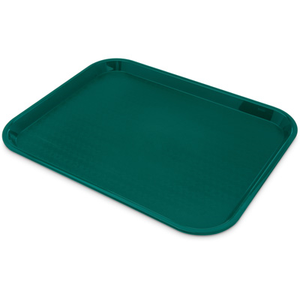 "Carlisle CT141815 Café Tray, 17-7/8""L x 14""W, rectangular, drying/stacking lugs, skid and scratch resistant, polypropylene, teal, NSF"