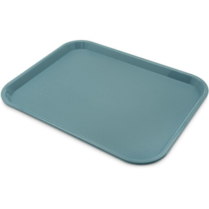 "Carlisle CT141859 Café Tray, 17-7/8""L x 14""W, rectangular, drying/stacking lugs, skid and scratch resistant, polypropylene, slate blue, NSF"