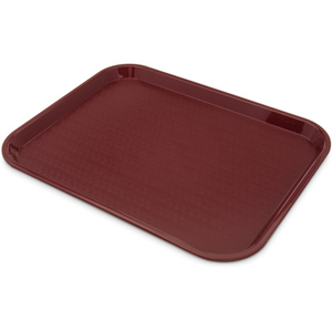 "Carlisle CT141861 Café Tray, 17-7/8""L x 14""W, rectangular, drying/stacking lugs, skid and scratch resistant, polypropylene, burgandy, NSF"