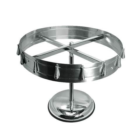 "Crown Brands CW-16 Update International™ - Check Wheel, 17-7/8"" dia., 15-1/2""H, 16 clips, pedestal & ceiling mount kit included, 0.8 mm thick stainless steel"