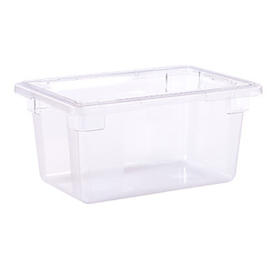 "Carlisle 1061207 StorPlus™ Food Storage Box, 5 gallon, 18""L x 12""W x 9""H, clear, NSF, Made in USA"