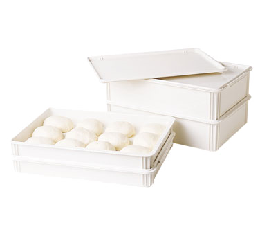 Cambro DB18266CW148 Camwear Pizza Dough Box, 26L x 18W x 6D, rounded edges, dishwasher safe, break resistant, polycarbonate, white, NSF