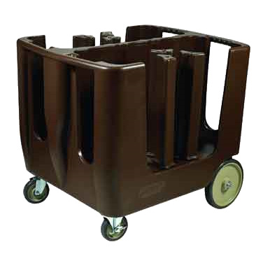 Winco DCA-6 Dish Caddy, Polyethylene, Dark Brown