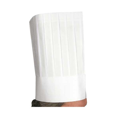 "Winco DCH-12 12"" Pleated Disposable Chef Hat"