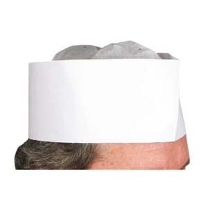"Winco DCH-3 3"" Pleated Disposable Chef Hat"