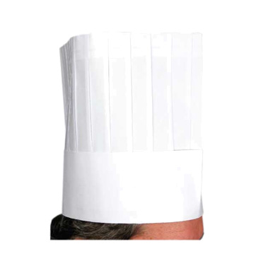 "Winco DCH-9  9"" Pleated Disposable Chef Hat"