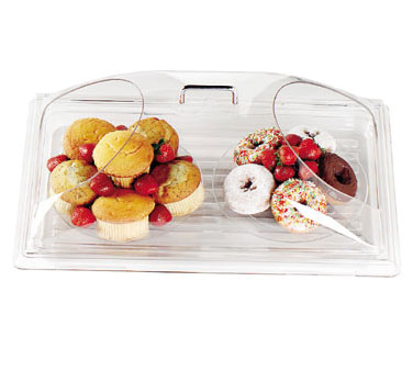 Cambro DD1220BECW135 Camwear Display Dome Cover, 21-7/8W x 14-3/4D x 8H, fits 12 x 20 tray, polycarbonate, clear