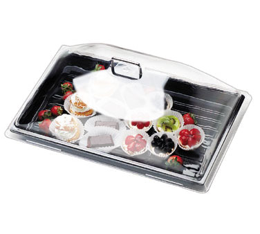 Cambro DD1220CW135 Camwear Display Dome Cover, 21-7/8W x 14-3/4D x 8H, fits 12 x 20 tray, clear, polycarbonate