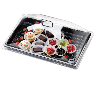 Cambro DD1826CW135 Camwear Display Dome Cover, 26-3/4W x 18-7/8D x 8-7/8H, fits 18 x 26 tray, chrome handles are attached, polycarbonate, clear