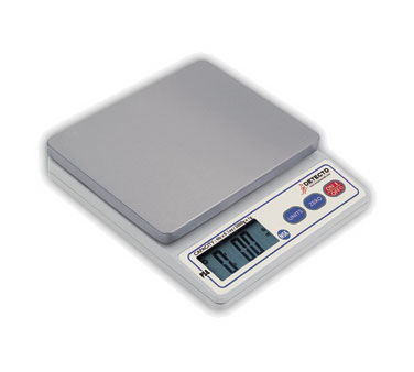 Detecto PS4 Scale, digital portion control, top loading counter model, digital display, weight select button, 4 lb. x 0.1 oz./2000 g. x 1 g., NSF