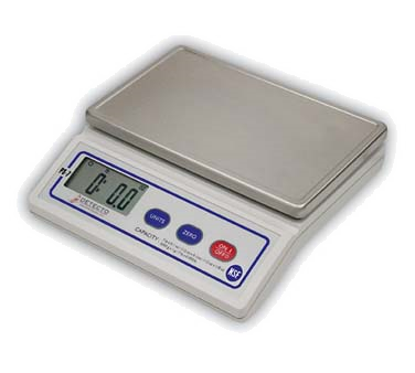 Detecto PS7 Scale, digital portion control, 5 digit with LCD display, with select button, 7 lb. x .1 oz./112 oz. x 0.1 oz./112 oz. x 1/8 oz./3000 g. x 1g./7 lb. x 0.005 lb., NSF