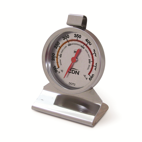 CDN DOT2 Oven Thermometer, 150 to 550°F Ovenproof, Stand or Hang