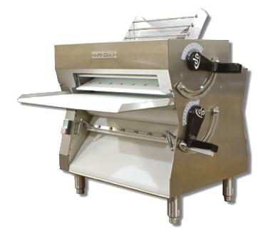 "DOUGH PRO DPR3000 Dough Roller, table top design, double pass, spring loaded scrapers, thickness control, rolls up to 18"" crust, adjustable thickness, 3/4 HP, cETLus, ETL-Sanitation, cETLus, ETL-Sanitation"
