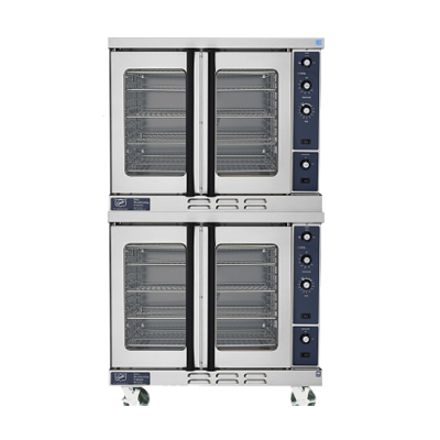 Duke E102-E Convection Oven, electric, double-deck, standard depth, thermostatic controls, NSF, cETLus
