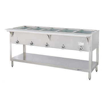 "Duke E305SW Aerohot Hot Food Station, electric, 72-3/8""W x 22-7/16""D x 34""H, (5) 12"" x 20"" sealed hot food wells, cULus, UL EPH Classified"