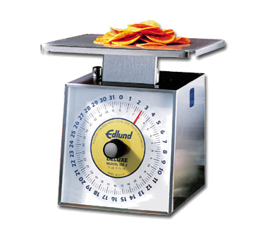 Edlund DR-2 Deluxe Scale, Portion, Dial Type, dishwasher safe, top loading counter model, rotating dial, vertical face, NSF certified, made in USA