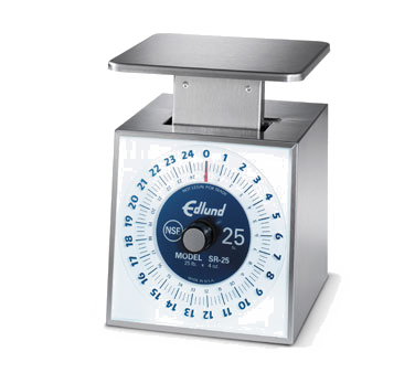 Edlund SR-25 Scale, Portion, Dial Type, dishwasher safe, top loading counter model, NSF certified, made in USA